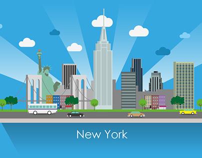 Ilustraciones vectoriales ciudades