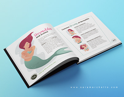 Book layout design and illustrations