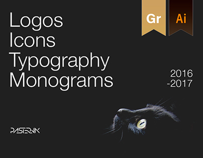 Logos Collection. Monograms, icons, typography