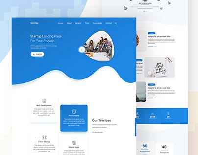 Startup Landing Page Idea