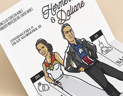 Ilustração para Convite de Casamento