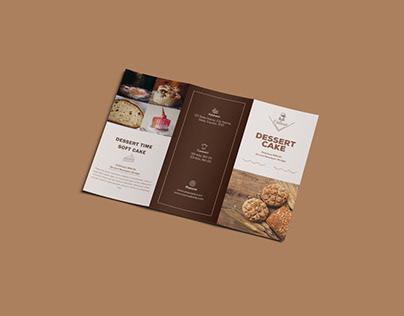 Dessert Cake Tri-fold Brochure