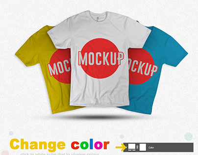 Free Multicolored T-Shirt Mockup