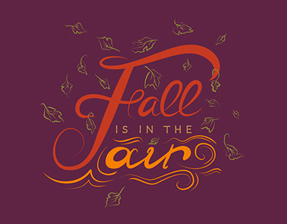 Free Handwritten Fall Is In The Air SVG
