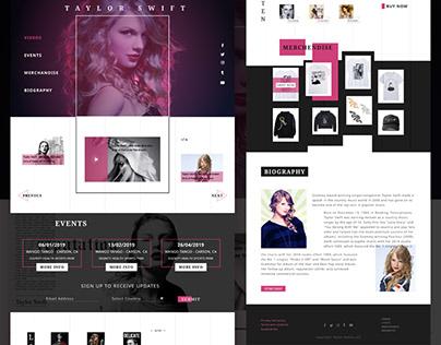 Singer website redesign
