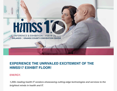 HIMSS17 Exhibition Video Email Newsletter