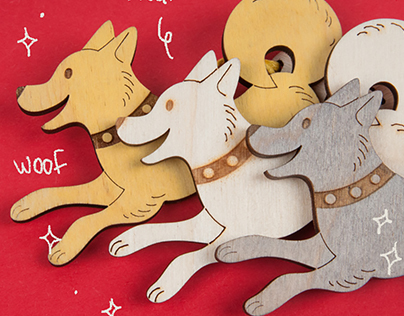 Happy Dogs — Wood Toy