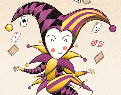 Illustration Of Jester In Chibi Style