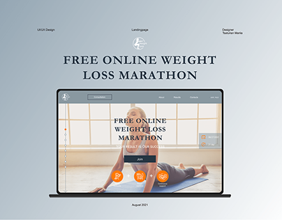 Landing page for online weight loss marathon