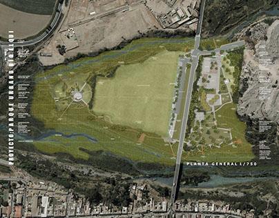 Digital rendering site plan - Parque Urbano Rio Elqui