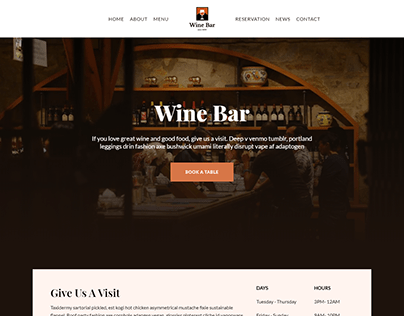 Bar, Wine, Drink wordpress website | ecommerce
