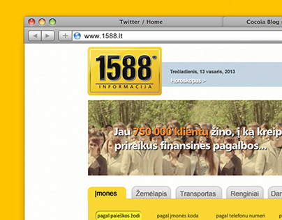 Website redesign concept for 1588.lt