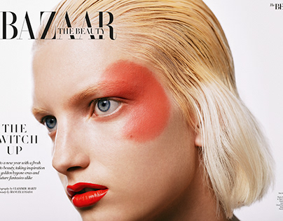 Harper's Bazaar Beauty, January 2021.