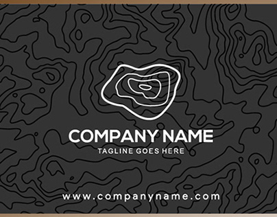 Land pattern Business card