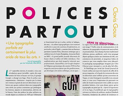 """polices partout"" // magazine layout"