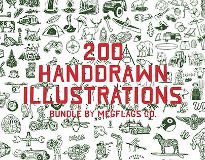 Handdrawn Illustrations Bundle