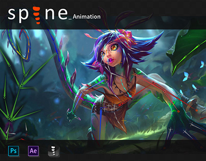 Spine Animation | LoL Neeko Login Screen (Fanart)