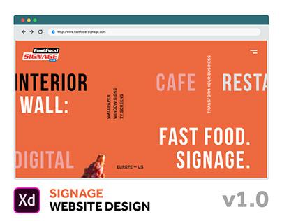 Fast Food Signage Website Design v1.0