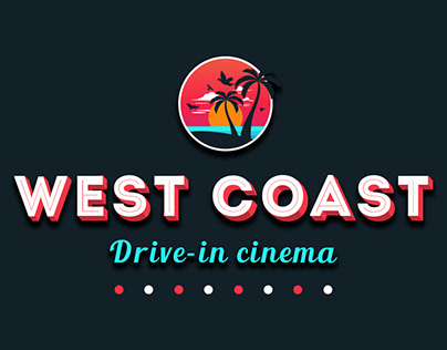 Retro Style Poster for Drive-in Cinema