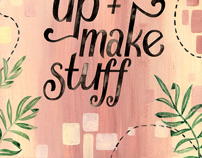 Wake Up + Make Stuff Poster