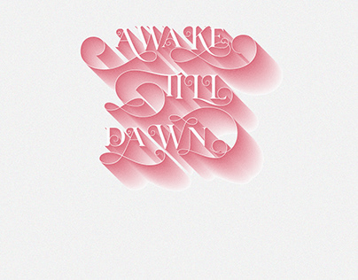 Typography Shadow Text