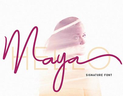 Maya Signature Font