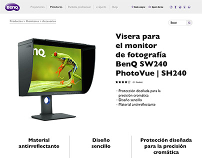 Landing page BenQ product