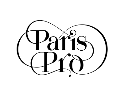 Paris Pro | New Typeface for Fashion by Moshik Nadav