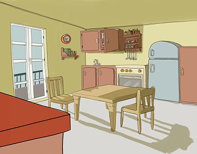 The appartement: details and perspective