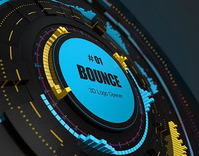 BOUNCE - 3D Logo Opener After Effects Template