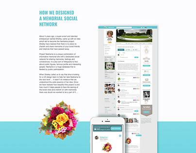 How we designed a memorial social network