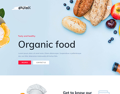 Organic Food full Responsive Wordpress Website