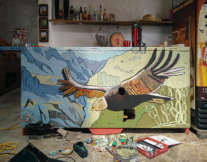 Condor illustration & mural painting