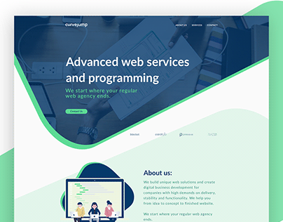Curvejump_Website design