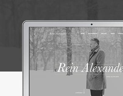 Rein Alexander / Norwegian musician / Webdesign