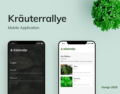 Kräuterrallye App design