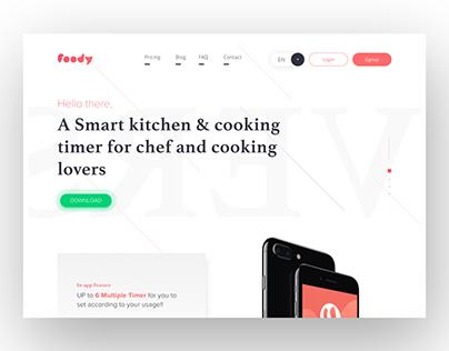 Foody Landing Page - Freebie