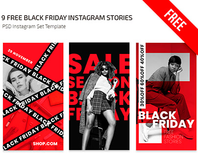 Free Black Friday Instagram Stories Templates in PSD