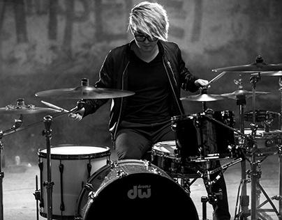 Фотосессия барабанщика