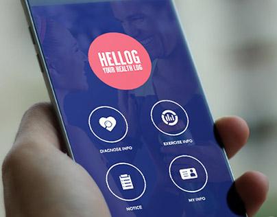 Hellog Health Monitoring Android App UI/UX Design