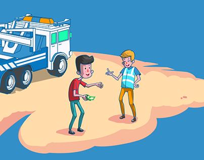 Junk Car Medics blog illustrations