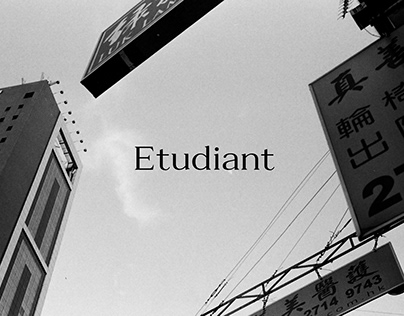 Etudiant Regular   typeface design