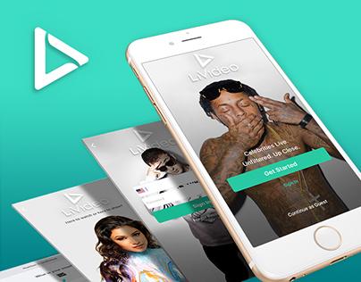 LiVideo UX/UI App Design