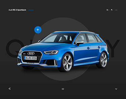 Audi RS 3 Sportback promo page