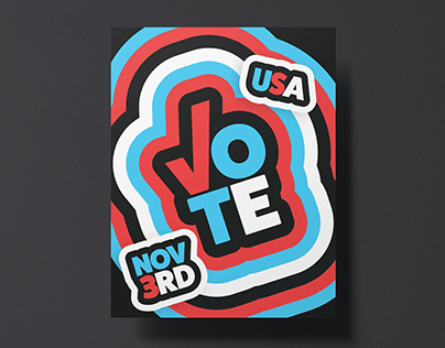 Get Out The Vote 2020 Election Poster Design