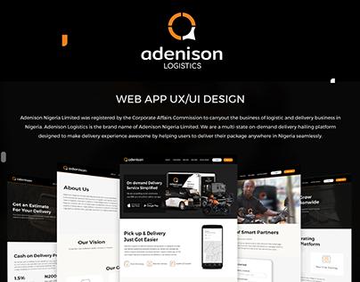 ADENISON WEB APP UI/UX DESIGN