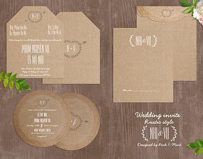 Wedding invite [Rustic style]