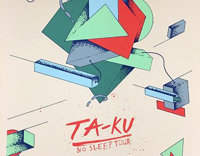 TA-KU Gig Poster