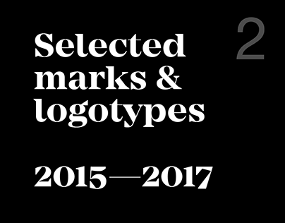Selected marks & logotypes 2015—2017