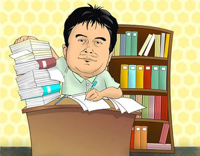Caricatures for PhilMech  Calendar